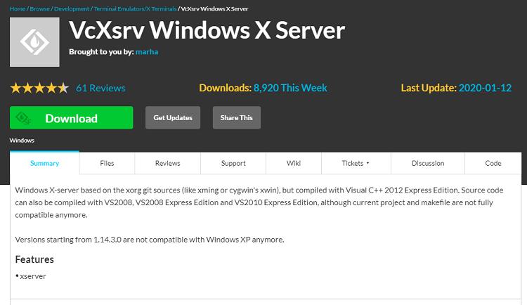VcXsrv の公式サイト