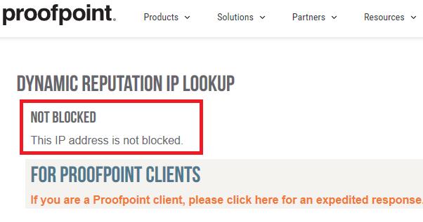 proofpointの確認結果