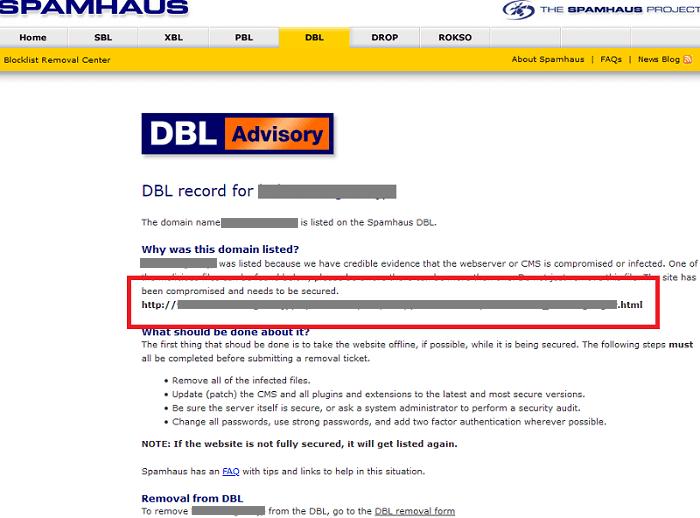 Spamhaus DBL